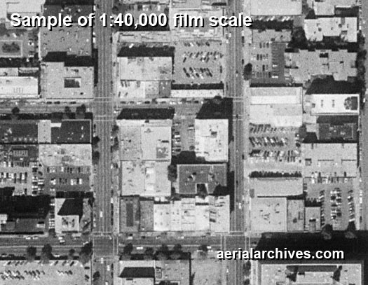 aerial photography 1:40000 film scale sample