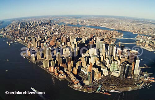 &copy aerialarchives.com Manhattan island, New York City, aerial photograph, AHLB2139