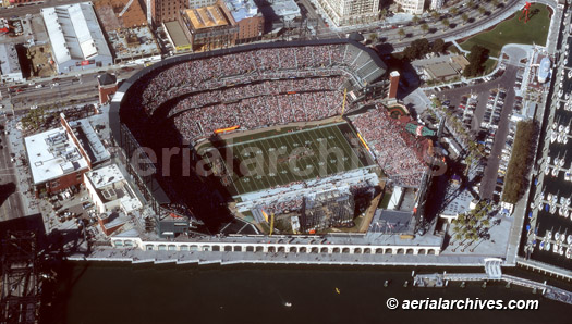 &copy aerialarchives.com aerial photograph of XFL football game at AT&T Park, San Francisco, CA AHLB2654.jpg,