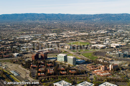 &copy aerialarchives.com overview, San Jose aerial photograph, Silicon Valley, AHLB2695, AN767W