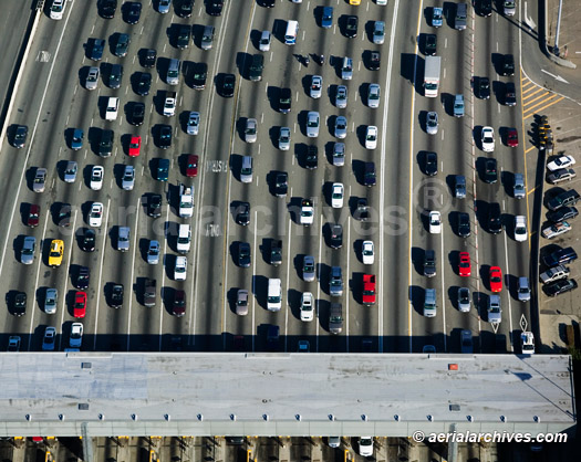 &copy aerialarchives.com Aerial Photograph of Traffic Waiting to Pay the Toll at the Bay Bridge Toll Plaza of the San Francisco Oakland Bay Bridge AHLB2883.jpg, ADM2PB