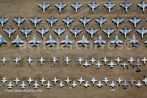 &copy aerialarchives.com aircraft boneyard, Davis Monthan Air Force Base, Tucson, Arizona, AZ aerial photograph, AHLB3543.jpg, AFRGCH