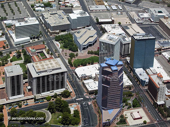&copy aerialarchives.com downtown Tucson, Arizona, AZ aerial photograph, AHLB3542R.jpg, AHFFMR