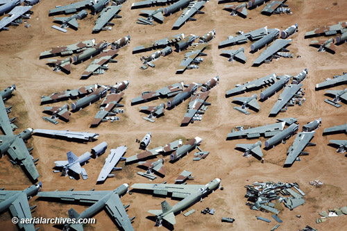 aerial photo davis monthan aircraft boneyard