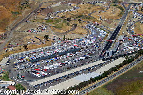 &copy aerialarchives.com aerial photograph of NASCAR Racing at the Infineon Raceway (Sears Point) AHLB3582c.jpg, AHFH4X