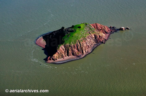 &copy aerialarchives.com aerial photograph of Red Rock island in San Francisco bay CA, AHLB3634