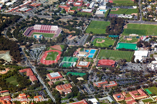 &copy aerialarchives.com Stanford University, Palo Alto aerial photograph, athletic facilities, new stadium AHLB3885.jpg, ABF4KW