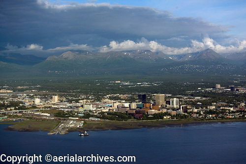 &copy aerialarchives.com, aerial, Anchorage, Alaska stock aerial photograph, aerial photography, AHLB3997.jpg