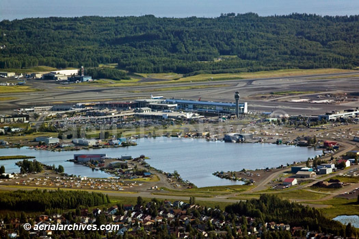 &copy aerialarchives.com Ted Stevens Anchorage International Airport (ANC), aerial photograph, AHLB4012.jpg, AHFH3W