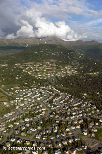 &copy aerialarchives.com residential development Anchorage, Alaska, aerial photograph, AHLB4012.jpg, AHFH3W