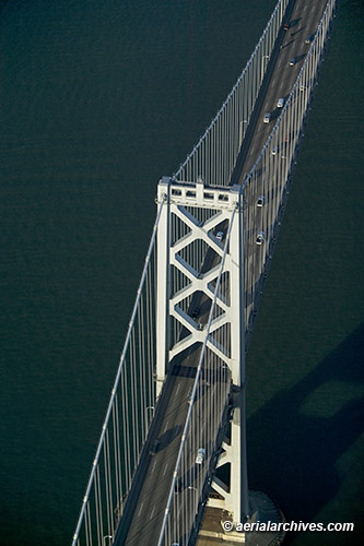 &copy aerialarchives.com Western Span Bay Bridge,  aerial photograph, AHLB4320, B0DWMJ