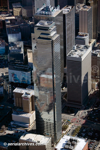 &copy aerialarchives.com aerial above Bank of America Plaza Dallas Texas JPJ Architects 901 Main St
