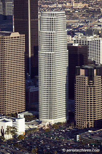 &copy aerialarchives.com downtown Los Angeles, CA, with aerial photographs mountains AHLB4769, B4MA7J