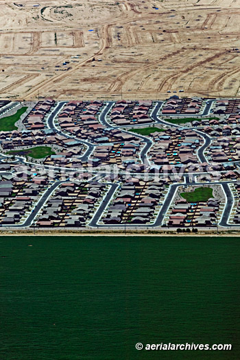 &copy aerialarchives.com aerial photograph of residential development AHLB4880