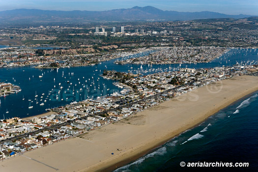 &copy aerialarchives.com Newport Beach  Newport Bay AHLB5005 BB0M9D