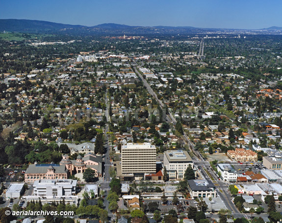Mountain View, Ca aerial view