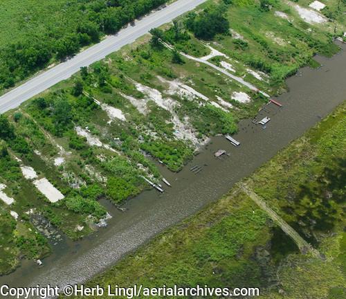 &copy aerialarchives.com, empty building slabs from houses destroyed by Katrina New Orleans, Louisiana, stock aerial photograph, aerial photography, AHLB5288