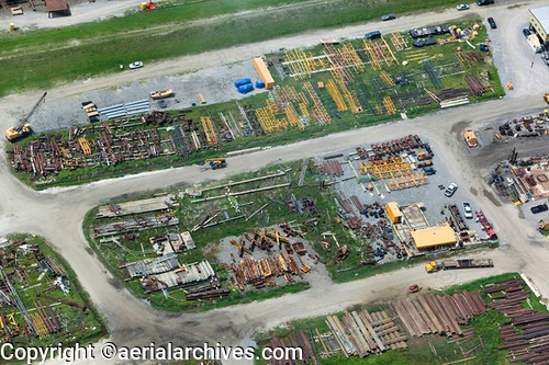 &copy aerialarchives.com, rebuilding materials lower ninth ward New Orleans, Louisiana, stock aerial photograph, aerial photography, AHLB5321