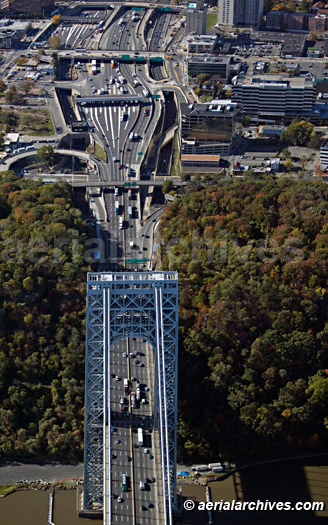 &copy aerialarchives.com aerial photograph GW Bridge Toll booth New Jersey side AHLB5617