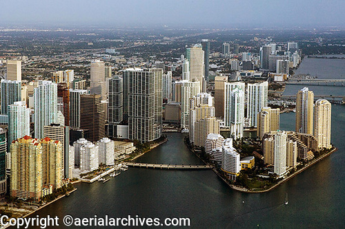 &copy aerialarchives.com Downtown Miami, Florida aerial photograph, AHLB6030