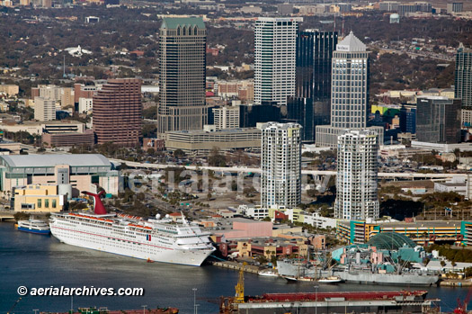 &copy aerialarchives.com Cruise Line Terminal, Port of Tampa, Florida aerial photograph, AHLB6035