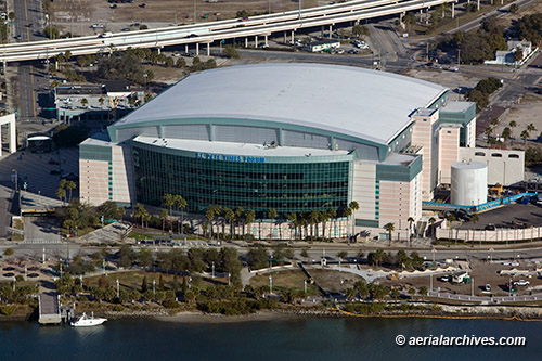 &copy aerialarchives.com St. Pete Times Forum Tampa, Florida  aerial photograph, AHLB6037 B8FK14
