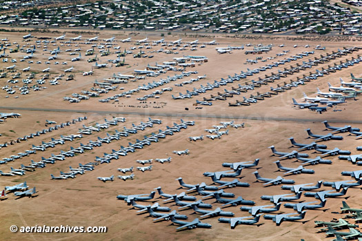 &copy aerialarchives.com aircraft boneyard, Davis Monthan Air Force Base, Tucson, Arizona, AZ aerial photograph, AHLB7006