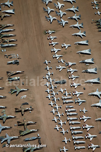&copy aerialarchives.com aircraft boneyard, Davis Monthan Air Force Base, Tucson, Arizona, AZ aerial photograph, AHLB7007