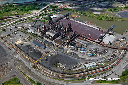 &copy aerialarchives.com aerial photography steel mill Cleveland, Ohio