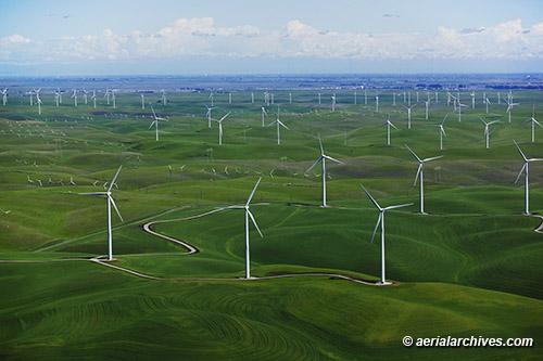 Aerial photograph Shilo Wind Farm