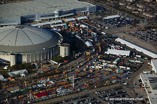 &copy aerialarchives.com aerial photograph Houston Rodeo AHLB7530 C0Y0BA