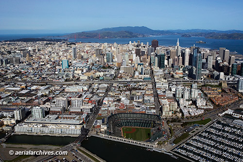 &copy aerialarchives.com,  aerial photograph  overview  San Francisco Island from  south, AHLB7556, C0Y15R