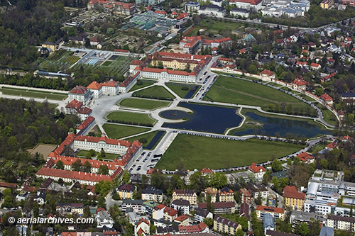&copy aerialarchives.com aerial photograph of Nymphenburg Palace AHLB7593, C0Y2MY