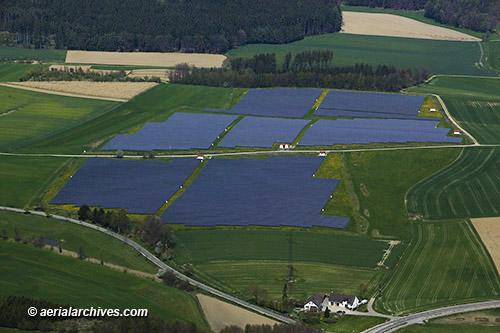 Aerial Photograph Solar Farming Bavaria