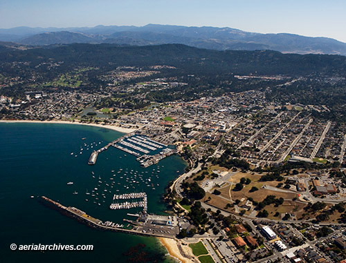 &copy aerialarchives.com aerial photograph Monterey, California AHLB7918
