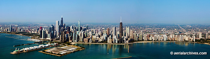 &copy aerialarchives.com panoramic aerial photograph Chicago, Illinois AHLB9321