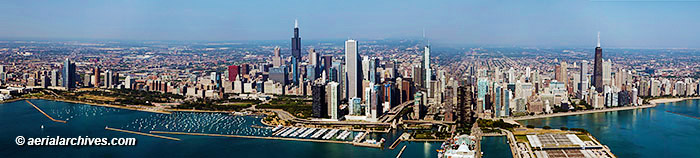 &copy aerialarchives.com panoramic aerial photograph Chicago, Illinois AHLB9323