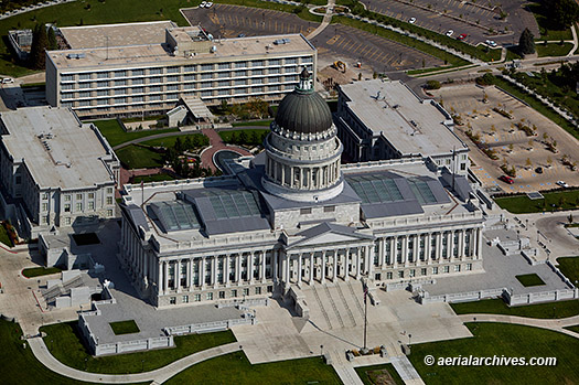 &copy aerialarchives.com Utah State Capitol, Salt Lake City, aerial photograph, AHLB9359
