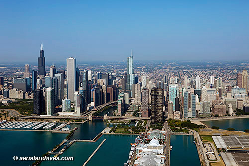 &copy aerialarchives.com aerial photograph Chicago skyline Illinois