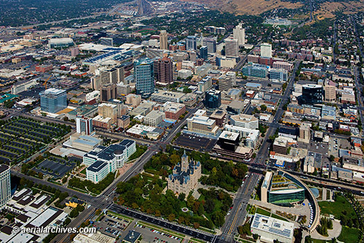 &copy aerialarchives.com aerial photograph Salt Lake City Utah