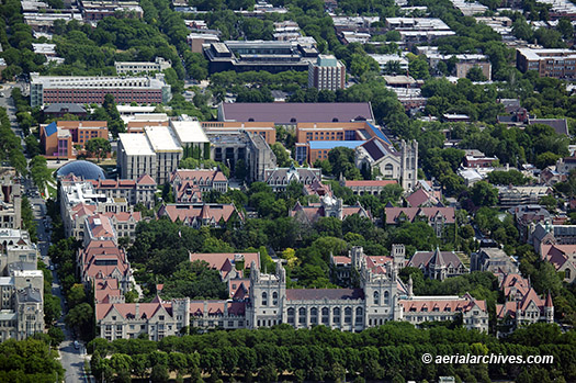 &copy aerialarchives.com University of Chicago,  Illinois aerial photograph, AHLB9693