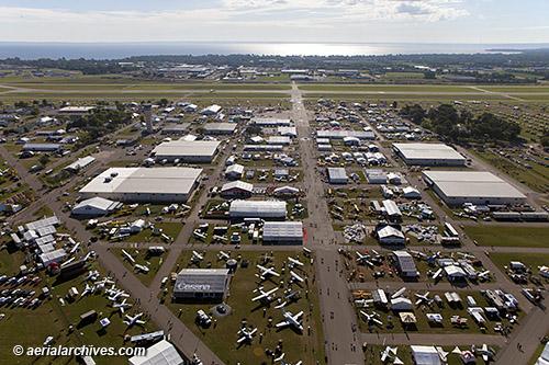 Aerial photograph EAA AirVenture 2013 Oshkosh Wisconsin