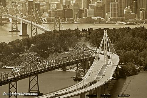 Aerial Photograph Bay Bridge Eastern Span