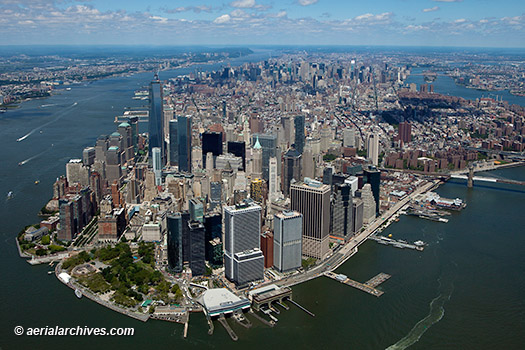 &copy aerialarchives.com,  aerial photograph  overview  Manhattan Island from  south, AHLB9973