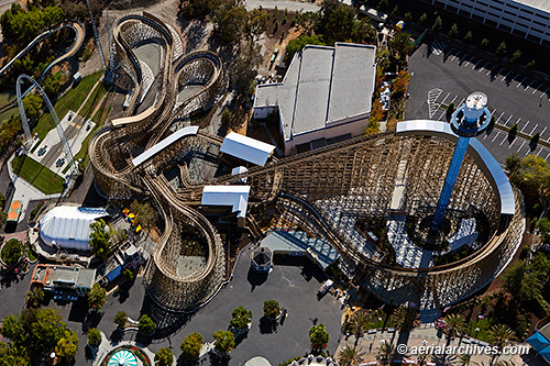 aerial photo California's Great America