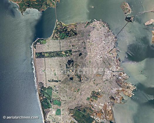 San francisco historical aerial photos - shoei norick abe picture
