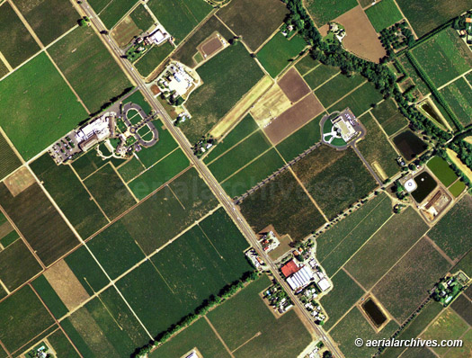 Aerial Maps of Napa Valley, CA on