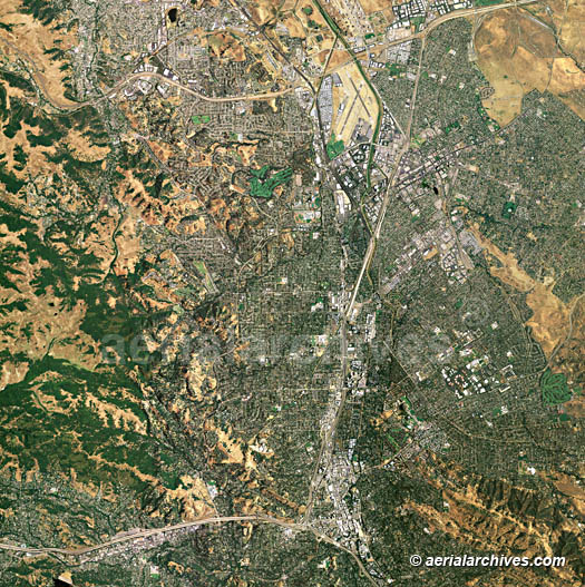 Aerial Maps Of Contra Costa County CA - Map of contra costa county ca
