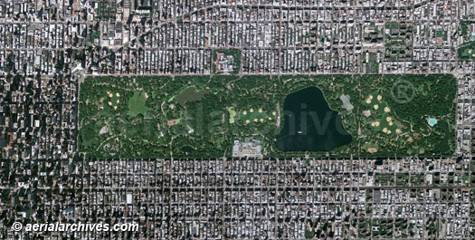 aerial photo map of Central Park New York City, AHLV2034