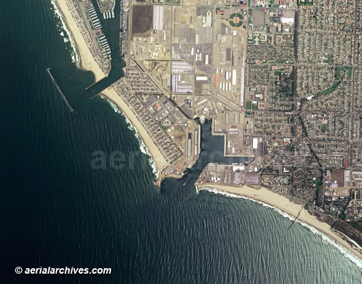 aerial map of Port Hueneme Ventura County
